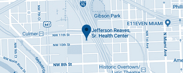 Jefferson Reaves, Sr. Health Center Map