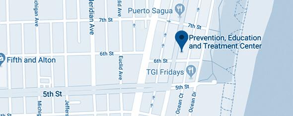 Prevention, Education & Treatment (PET) Center Map