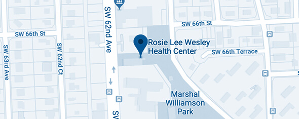 Rosie Lee Wesley Health Center Map