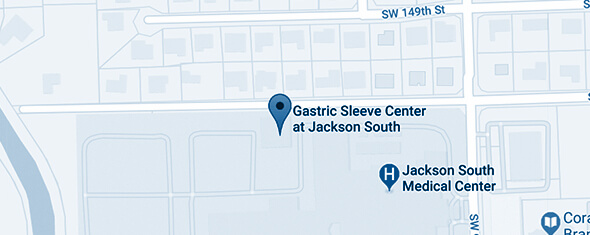 Gastric Sleeve Center at Jackson South Map