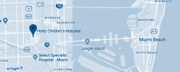Holtz Children's Hospital Map