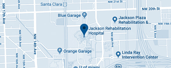 Jackson Rehabilitation Hospital Map