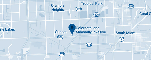 Colorectal and Minimally Invasive Surgery Specialists Map