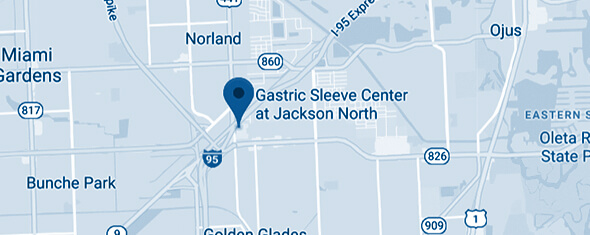 Gastric Sleeve Center at Jackson North Map
