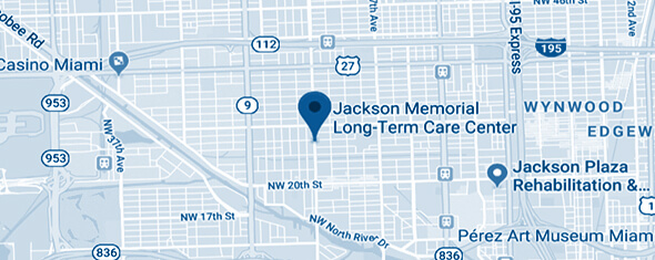 Jackson Memorial Long-Term Care Center Map