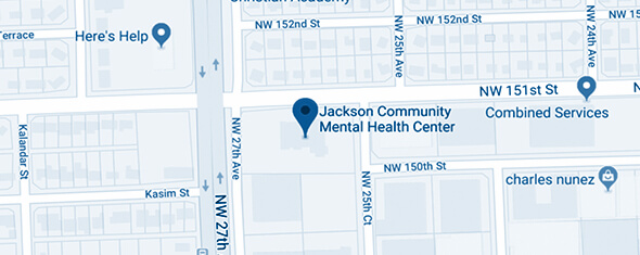 Jackson Community Mental Health Center - Opa Locka Map