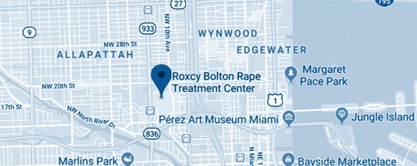 Roxcy Bolton Rape Treatment Center Map