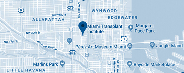 Miami Transplant Institute Map