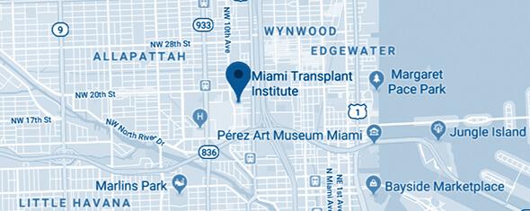 Miami Transplant Institute Map