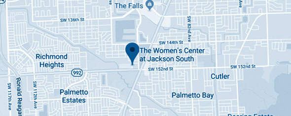 The Women's Center at Jackson South Map