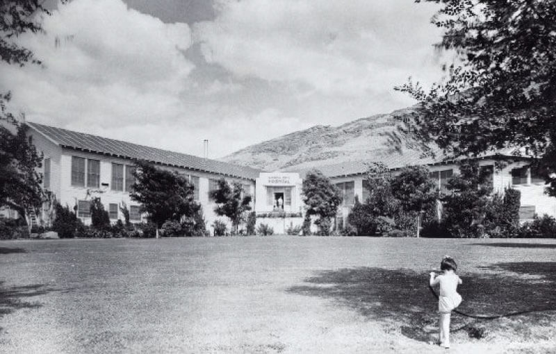 Mason City hospital (Grand Coulee Dam) after Garfield upgrade, 1938
