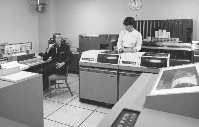 Computer processing room, IBM 1440