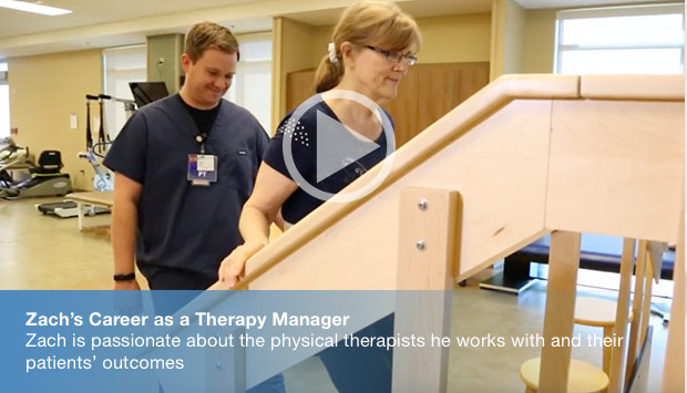 Zach's Career as a Therapy Manager - Zach is passionate about the physical therapists he works with and their patients' outcomes