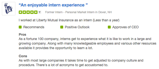 A Top Company For Interns