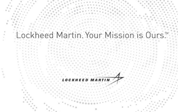 Lockheed Martin. Your mission is ours. Lockheed Martin logo.