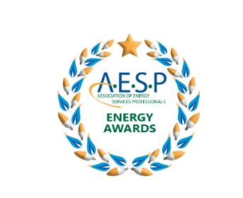 aesp logo in blue, yellow, and green