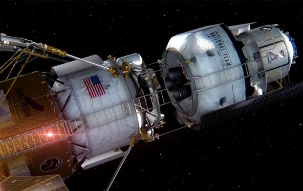 通往月球的宇宙飞船