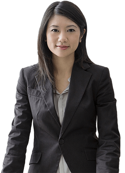 Female employee in a business suit