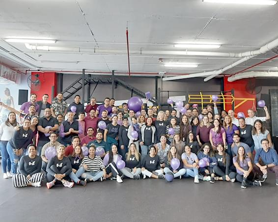 Group photo of the W.I.L.L. group at Under Armour