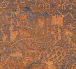 Indigenous cave art.