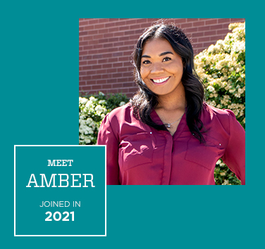 Meet Amber, Joined in 2019