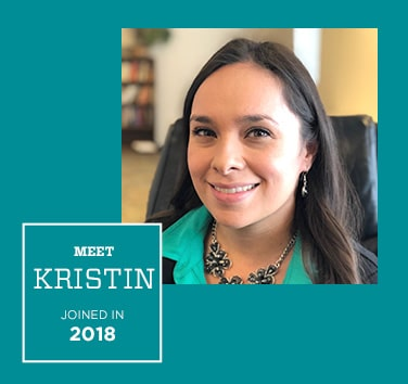Meet Kristin, Joined in 2018