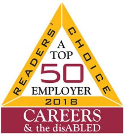 Reader's Choice 2018 a top 50 employer Careers & the disABLED