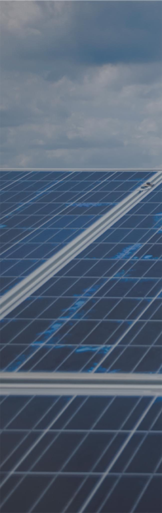 National Grid employee looking at solar panels