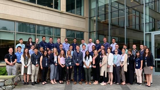group photo of all graduates in the graduate development program