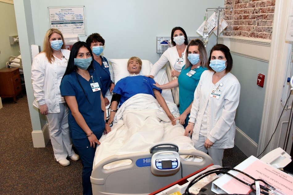 Nurses in New Simulation Training Lab