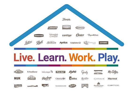 Live. Learn. Work. Play. Company brands under one roof