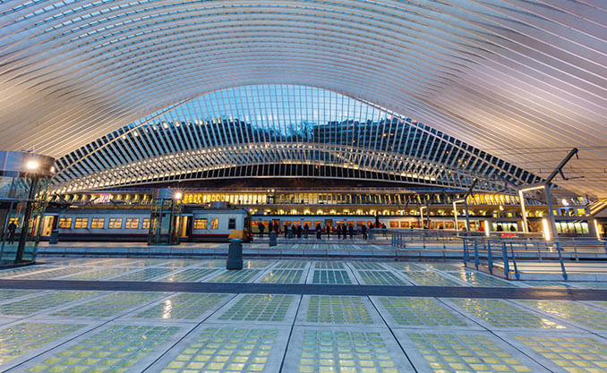 inside of train station