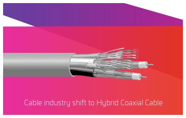 1999 - Cable industry shift to Hybrid Coaxial Cable