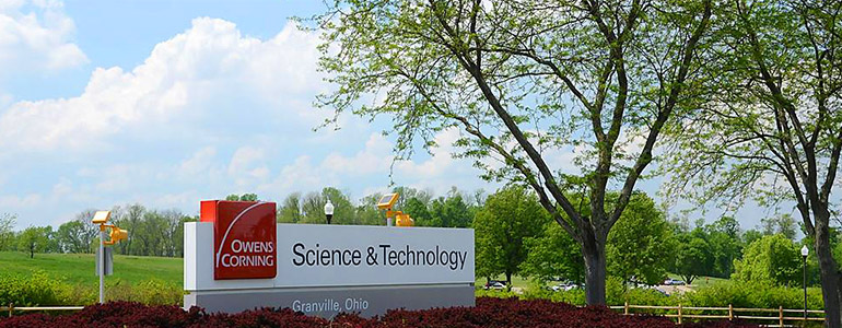 Granville, Ohio Science & Technology Center entrance sign