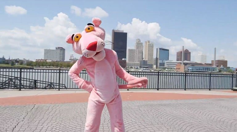 The Pink Panther Dance Off (Video)