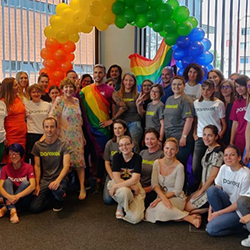 Parexel Employees at pride month