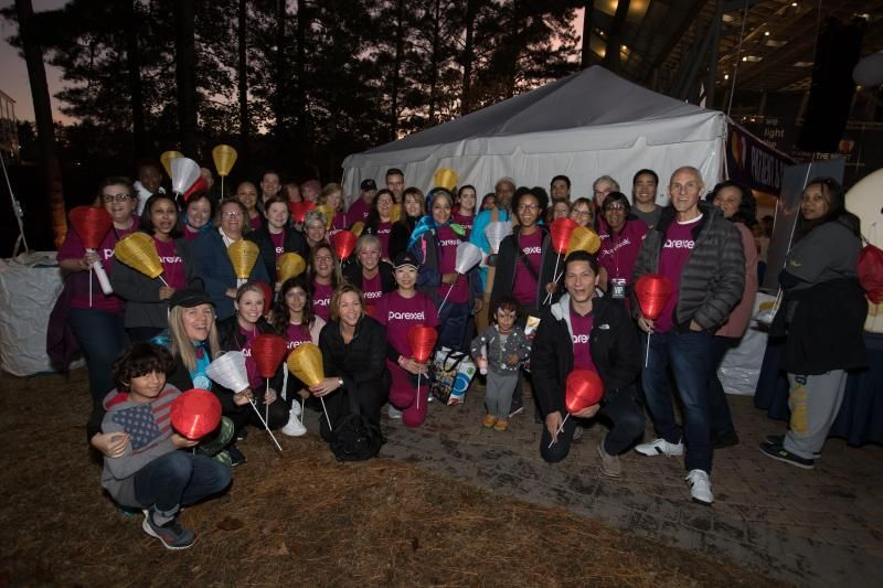 Image of Duram's Light the Night celebration with Parexel colleagues